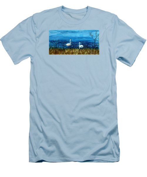 Marion Lake Swans Men's T-Shirt (Athletic Fit)