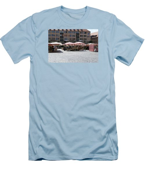 Men's T-Shirt (Slim Fit) featuring the photograph Markt Platz by Heidi Poulin