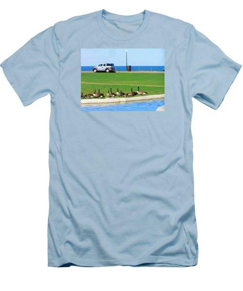 Martha Vineyard Men's T-Shirt (Slim Fit) by Oleg Zavarzin