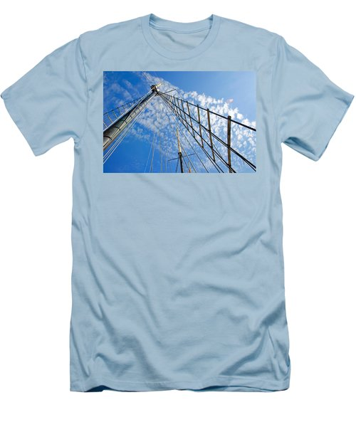 Masted Sky Men's T-Shirt (Slim Fit) by Keith Armstrong