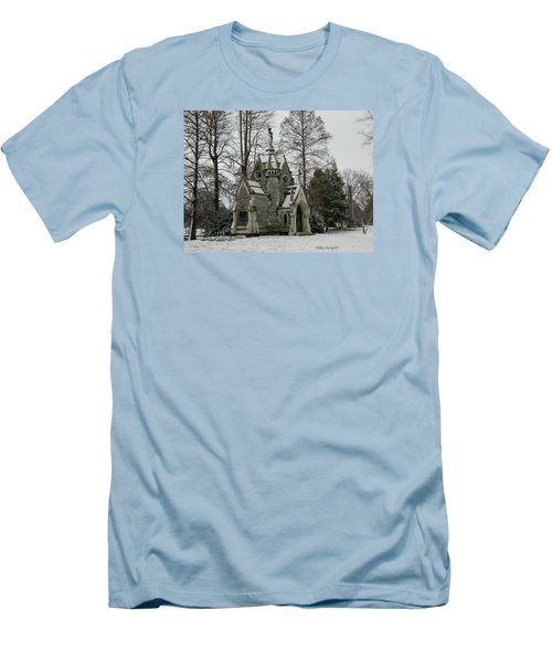 Mausoleum In Winter Men's T-Shirt (Slim Fit) by Kathy Barney