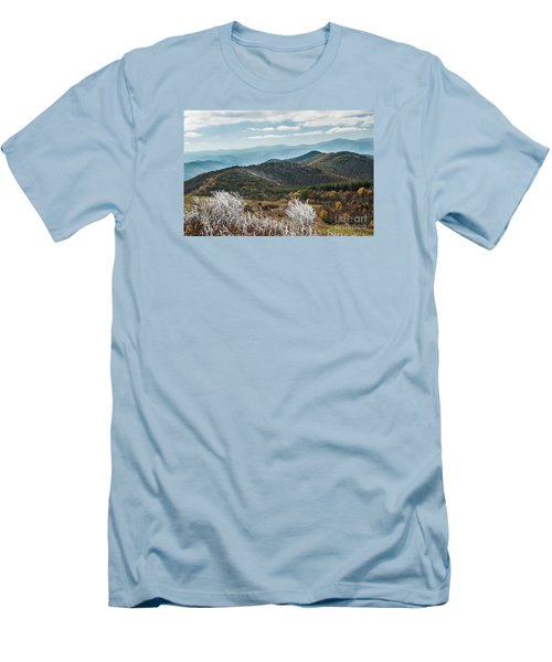 Men's T-Shirt (Slim Fit) featuring the photograph Max Patch In Appalachian Mountains by Debbie Green