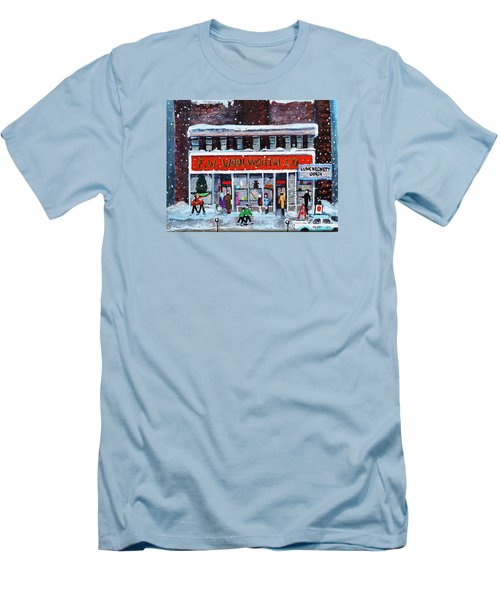 Memories Of Winter At Woolworth's Men's T-Shirt (Slim Fit) by Rita Brown