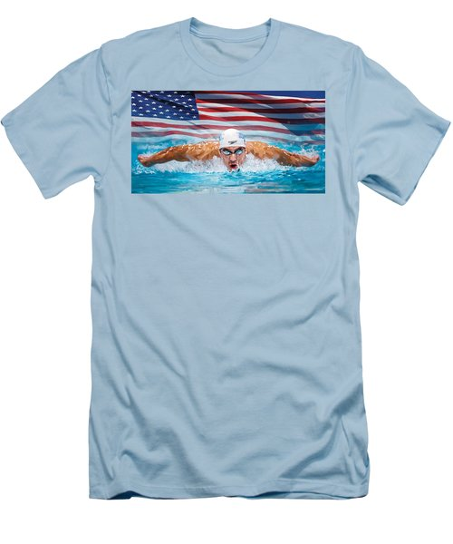 Michael Phelps Artwork Men's T-Shirt (Athletic Fit)