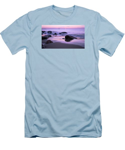 Millennium Sunrise Singing Beach Men's T-Shirt (Slim Fit) by Michael Hubley