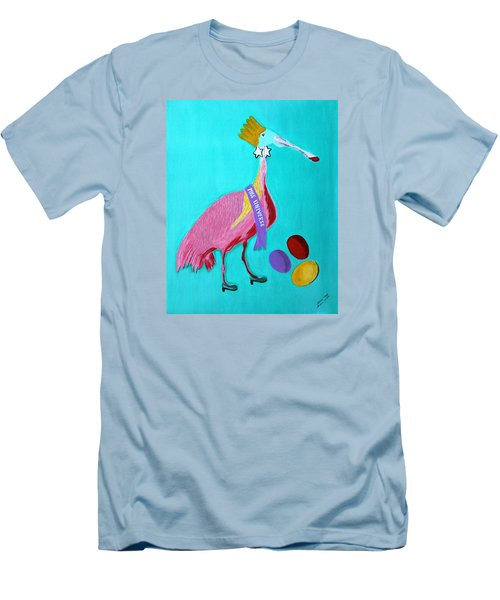 Men's T-Shirt (Slim Fit) featuring the painting Miss Universe by Lorna Maza