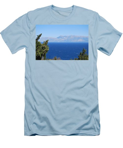 Men's T-Shirt (Slim Fit) featuring the photograph Mistral Wind by George Katechis