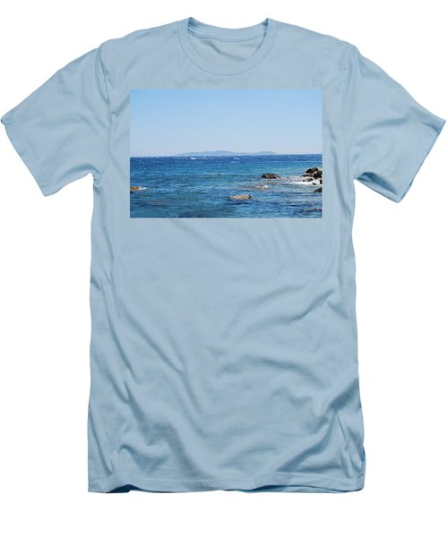 Men's T-Shirt (Slim Fit) featuring the photograph Mistral.force 6 by George Katechis