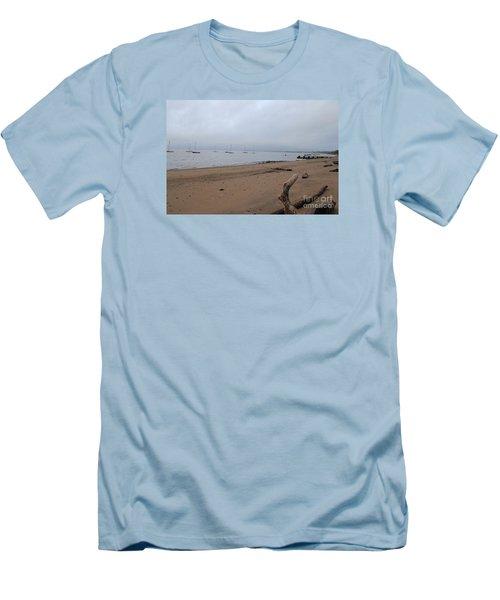 Misty Harbor Men's T-Shirt (Slim Fit) by David Jackson