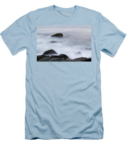 Misty Rocks Men's T-Shirt (Athletic Fit)