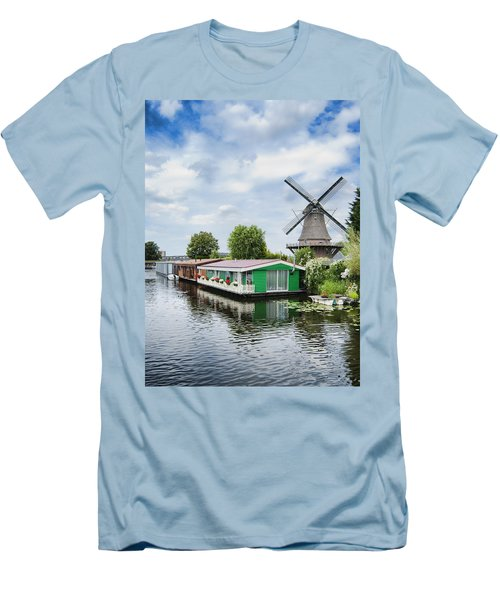 Molen Van Sloten And River Men's T-Shirt (Athletic Fit)