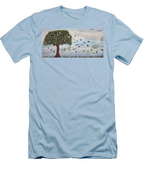 The Money Tree Men's T-Shirt (Slim Fit) by Jeffrey Koss
