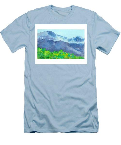 Montana Mountain Mist Men's T-Shirt (Slim Fit) by C Sitton