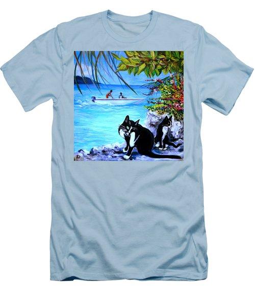 Montego Bay. Part One Men's T-Shirt (Slim Fit) by Anna  Duyunova