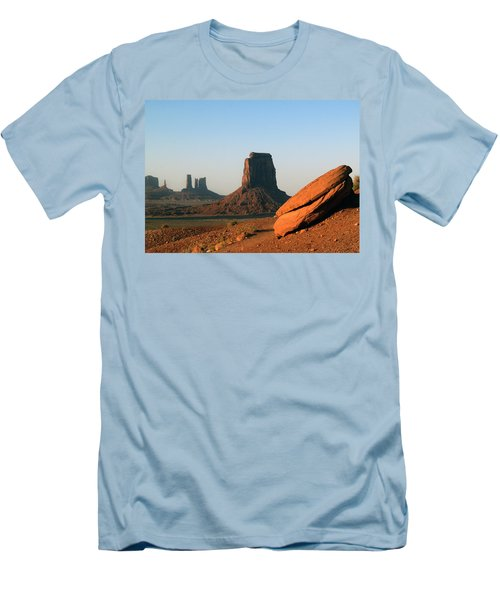 Monument Valley Afternoon Men's T-Shirt (Slim Fit) by Jeff Brunton