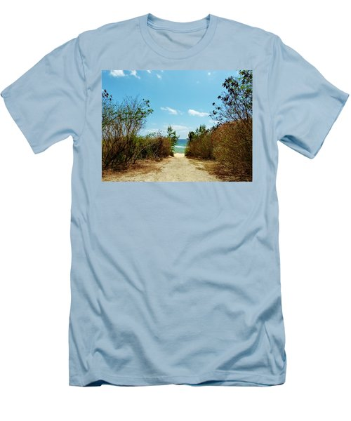 Men's T-Shirt (Slim Fit) featuring the photograph Moon Bay Walk by Amar Sheow
