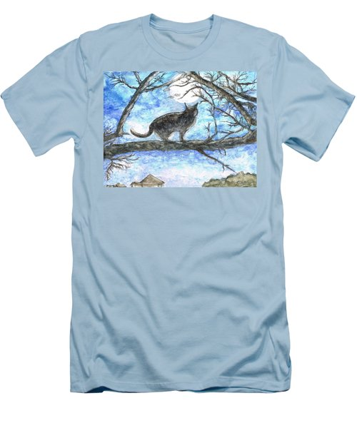 Moon Cat Men's T-Shirt (Athletic Fit)
