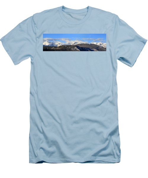 Moon Over The Rockies - Panorama Men's T-Shirt (Athletic Fit)