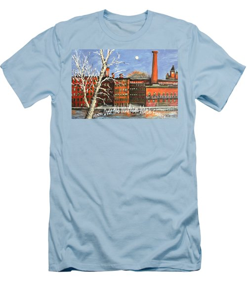 Moon Over Waltham Watch Men's T-Shirt (Slim Fit) by Rita Brown