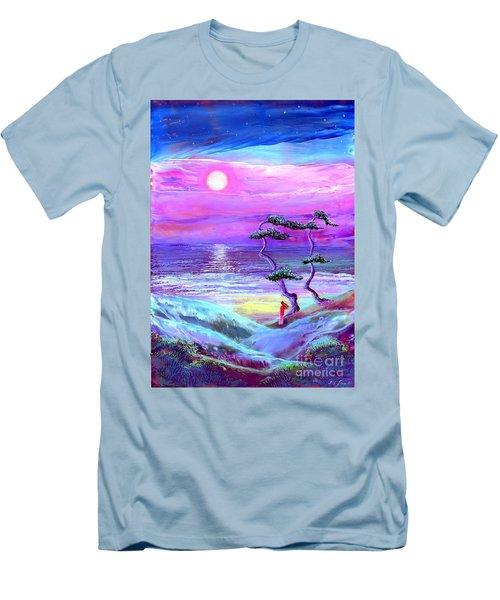 Moon Pathway,seascape Men's T-Shirt (Athletic Fit)