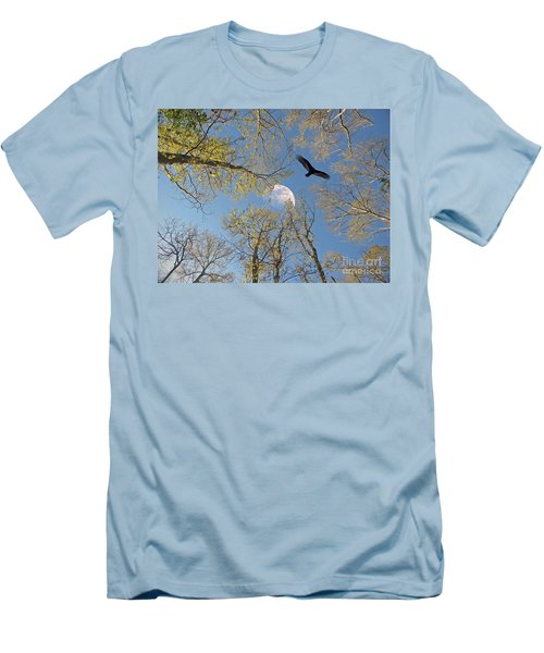 Men's T-Shirt (Slim Fit) featuring the photograph Moon Trees by Savannah Gibbs