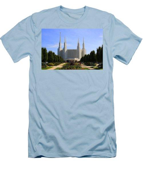 Mormon Temple Dc Men's T-Shirt (Slim Fit) by Patti Whitten