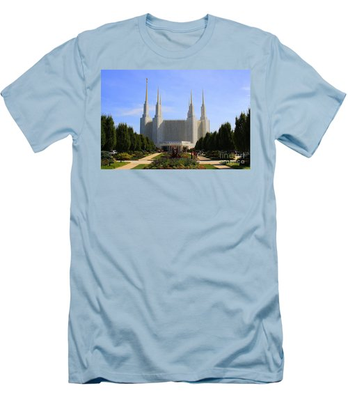 Mormon Temple Dc Men's T-Shirt (Athletic Fit)