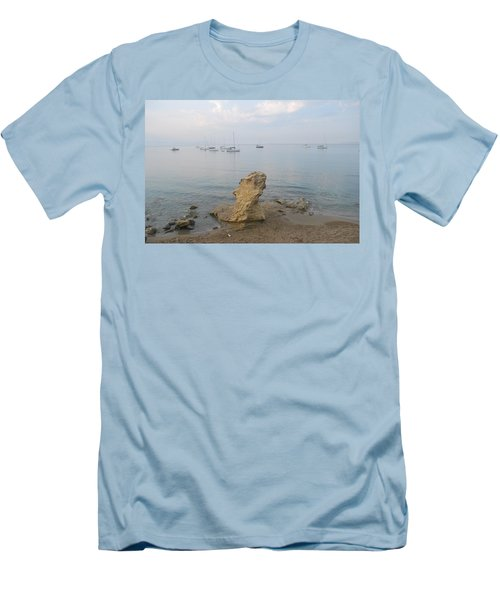 Men's T-Shirt (Slim Fit) featuring the photograph Morning Mist 2 by George Katechis