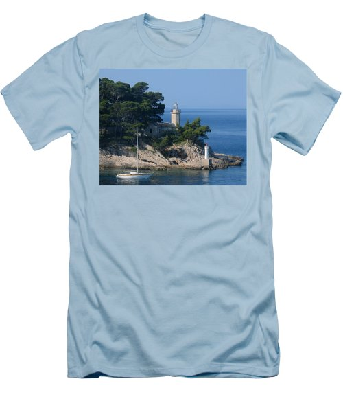 Morning Sail Men's T-Shirt (Slim Fit) by Jennifer Wheatley Wolf