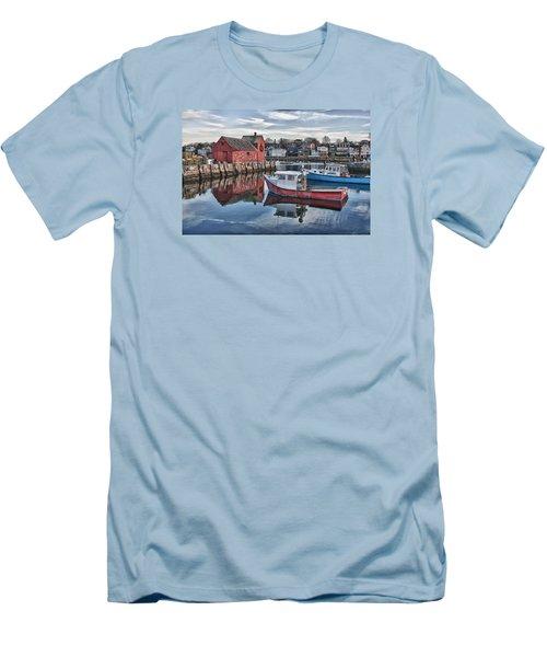 Motif 1 Sky Reflections Men's T-Shirt (Slim Fit) by Jeff Folger