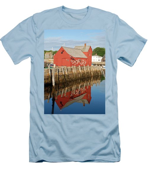 Men's T-Shirt (Slim Fit) featuring the photograph Motif 1 With Reflection by Richard Bryce and Family