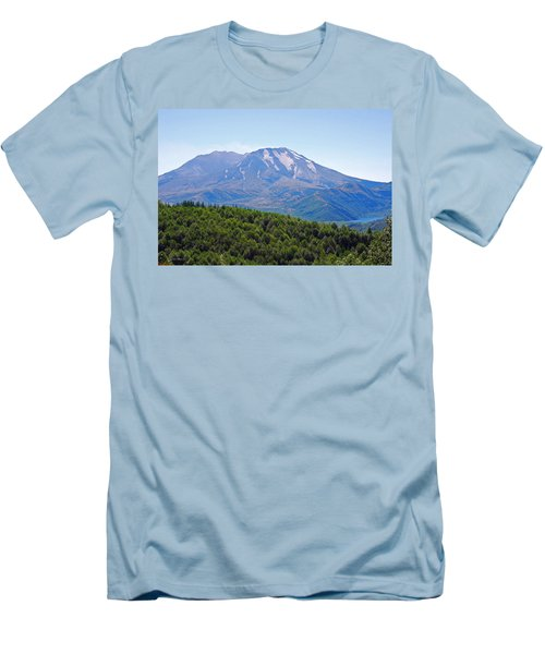 Mount St. Helens And Castle Lake In August Men's T-Shirt (Slim Fit) by Connie Fox