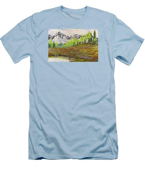 Mountain Meadow Men's T-Shirt (Slim Fit) by Jack Malloch