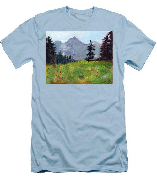 Mountain View Men's T-Shirt (Slim Fit) by C Sitton