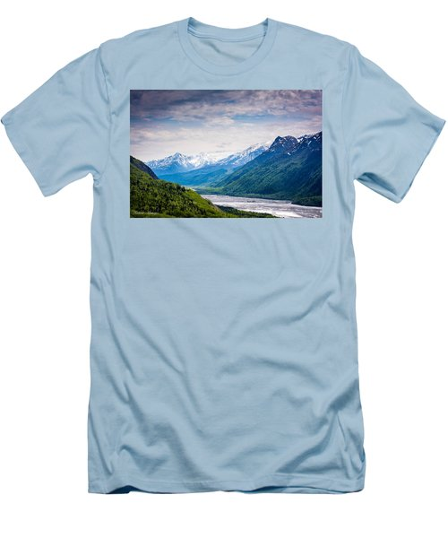 Mountains Along Seward Highway Men's T-Shirt (Athletic Fit)