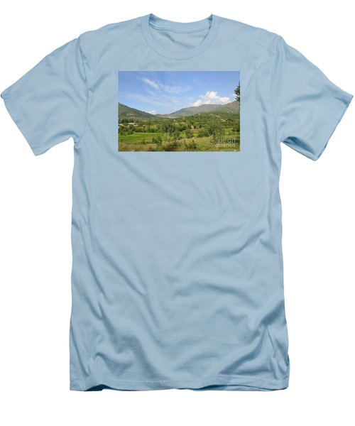 Men's T-Shirt (Slim Fit) featuring the photograph Mountains Sky And Clouds Swat Valley Pakistan by Imran Ahmed