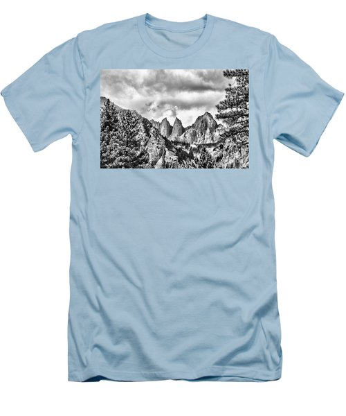 Men's T-Shirt (Slim Fit) featuring the photograph Mt. Whitney by Peggy Hughes