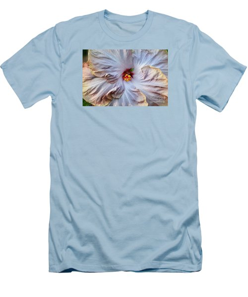 Muted Hibiscus Men's T-Shirt (Slim Fit) by Cindy Manero