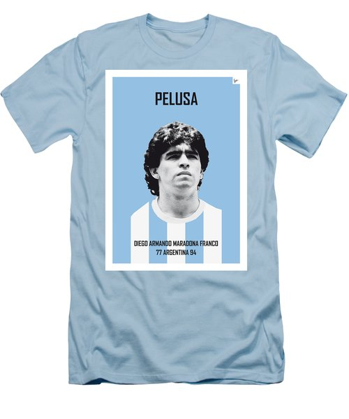 My Maradona Soccer Legend Poster Men's T-Shirt (Slim Fit) by Chungkong Art