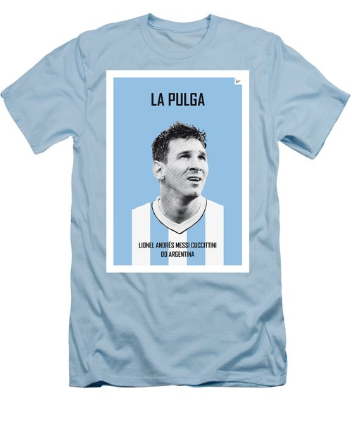 My Messi Soccer Legend Poster Men's T-Shirt (Slim Fit) by Chungkong Art