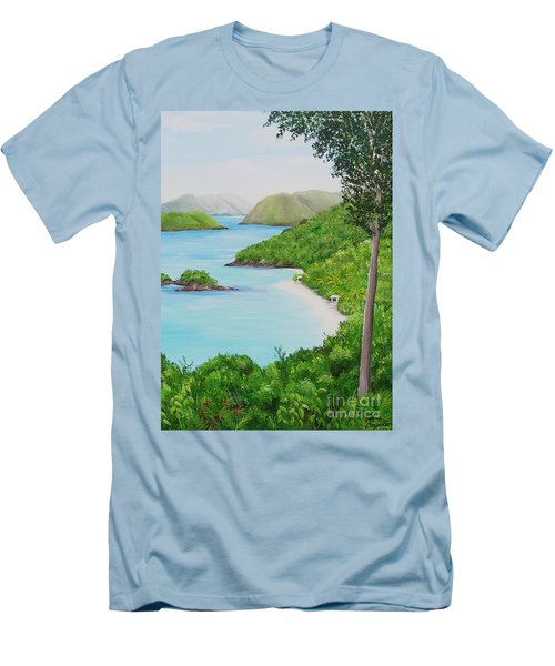 My Trunk Bay Men's T-Shirt (Athletic Fit)
