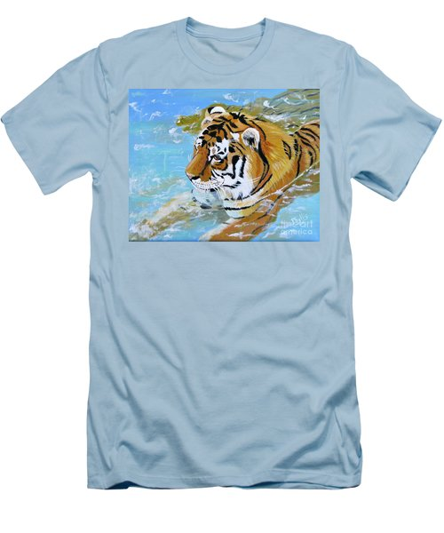 My Water Tiger Men's T-Shirt (Slim Fit) by Phyllis Kaltenbach