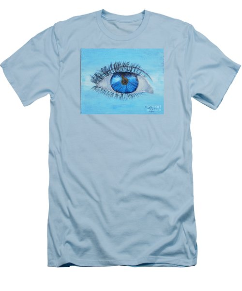 Men's T-Shirt (Slim Fit) featuring the painting Mystic Eye by Pamela  Meredith
