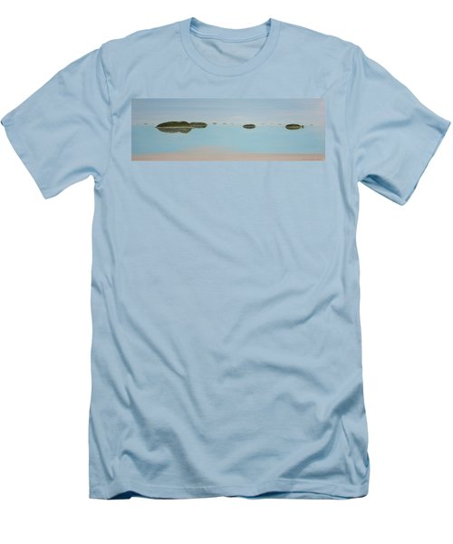 Men's T-Shirt (Slim Fit) featuring the painting Mystical Islands by Tim Mullaney