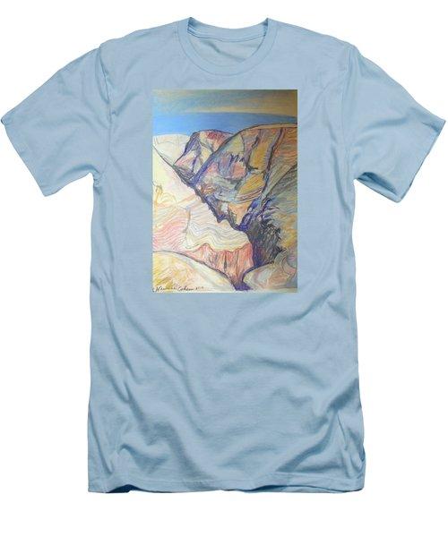 Nachal Darga Canyon Men's T-Shirt (Slim Fit) by Esther Newman-Cohen