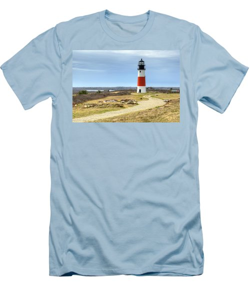 Nantucket's Sankaty Head Light Men's T-Shirt (Athletic Fit)