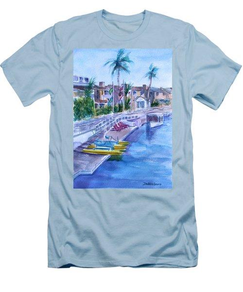 Naples Fun Men's T-Shirt (Slim Fit) by Debbie Lewis