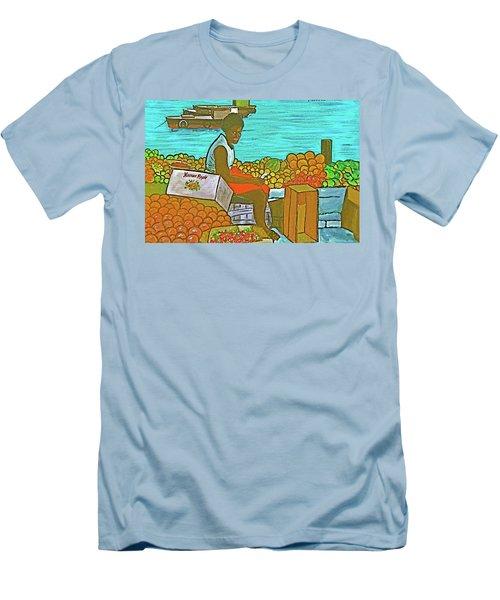 Nassau Fruit Seller Men's T-Shirt (Slim Fit) by Frank Hunter