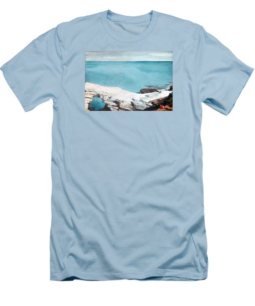 Natural Bridge Bermuda Men's T-Shirt (Slim Fit) by Celestial Images