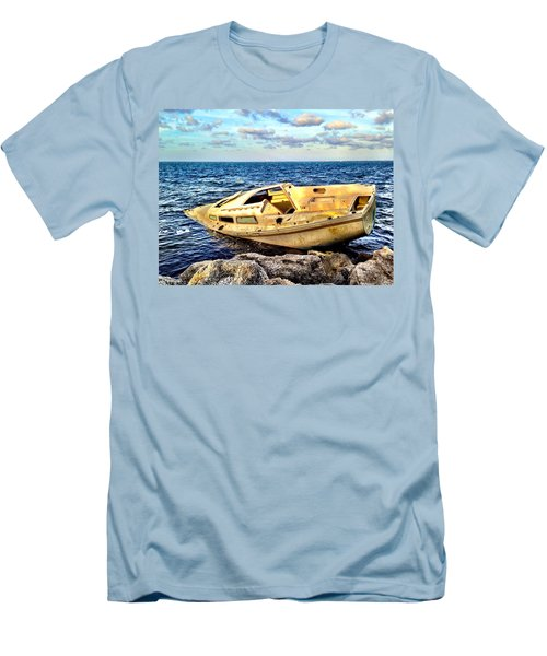 Naufragio  Men's T-Shirt (Slim Fit) by Carlos Avila